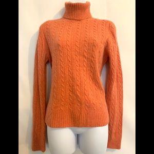 J. Crew orange soft chenille feel sweater size M